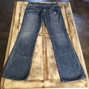 Banana Republic distressed flare jeans